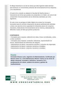 Dibujo Industrial: croquización de piezas e interpretación de planos de conjuntos mecánicos en UNED Cantabria, online y presencial
