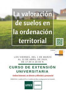 La valoración de suelos en la ordenación territorial, curso