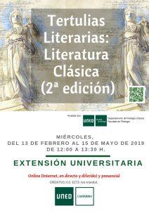 Tertulias Literarias: Literatura Clásica (2ª edición) en UNED Cantabria, online y presencial.