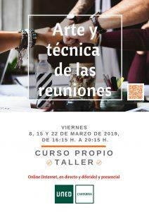 Arte y técnica de las reuniones: taller en UNED Cantabria. También online.