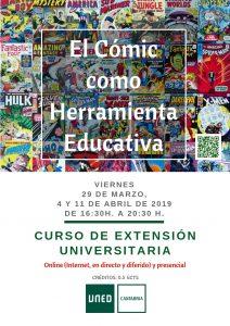 El Cómic como Herramienta Educativa en UNED Cantabria, marzo de 2019