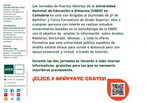 Grados, Másteres, Idiomas. UNED Cantabria