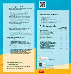 Educación y género, Curso de Verano de UNED Cantabria