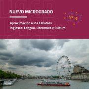 La UNED estrena el Microgrado en Aproximación a los Estudios Ingleses: Lengua, Literatura y Cultura